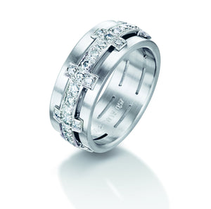 18ct White Gold Pave-set Diamond Ring - Andrew Scott
