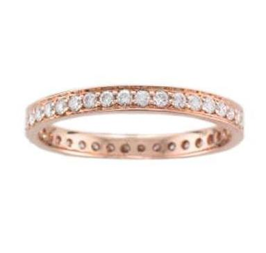 18ct Rose Gold Pave-set Diamond Full Eternity Ring - Andrew Scott