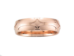 Furrer Jacot 18ct Rose Gold Merlin 6.0mm Wedding Ring - Andrew Scott