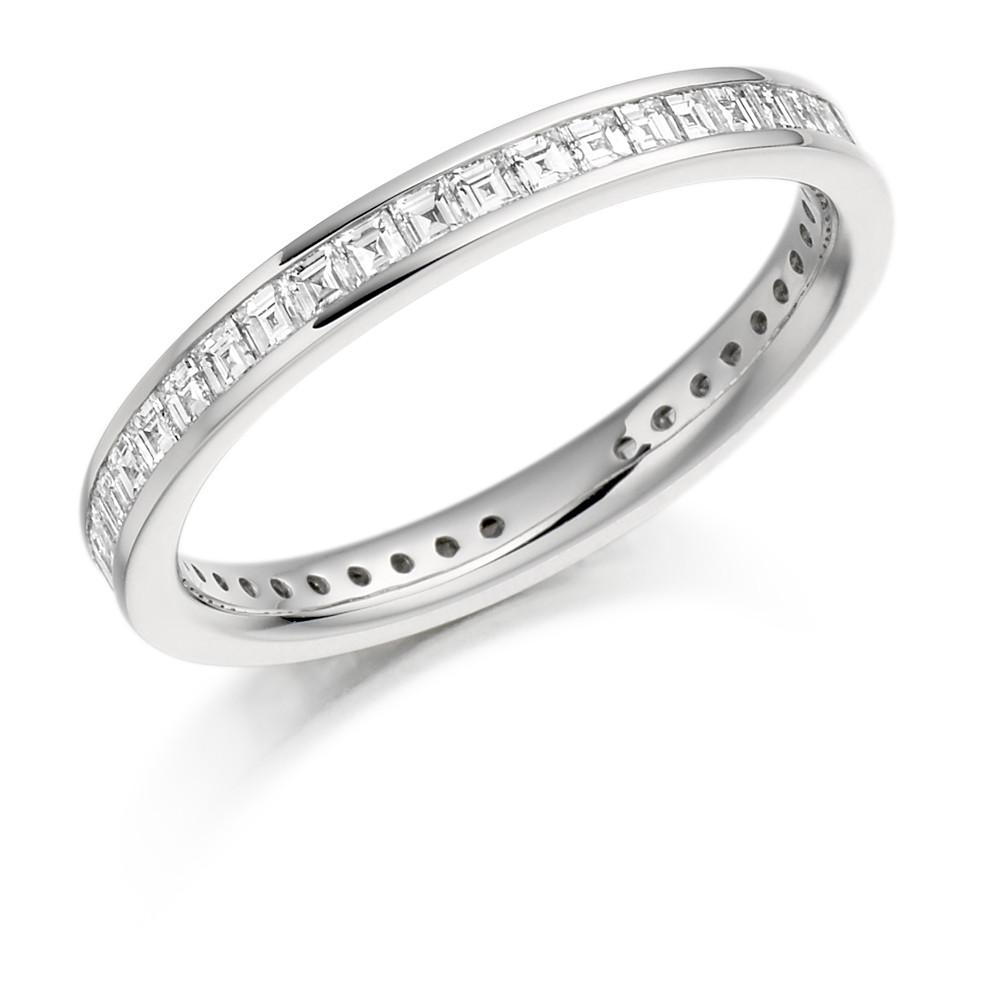 Platinum Fully Channel-set Diamond Eternity Ring