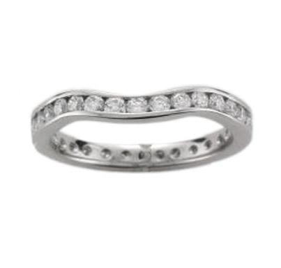 Platinum Shaped Full Diamond Eternity Ring - Andrew Scott