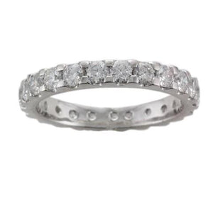 Platinum Scallop Edge Diamond Full Eternity Ring