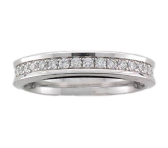 18ct White Gold Concave Full Diamond Eternity Ring - Andrew Scott