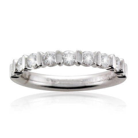18ct White Gold Brilliant-cut Diamond Half Eternity Ring - Andrew Scott