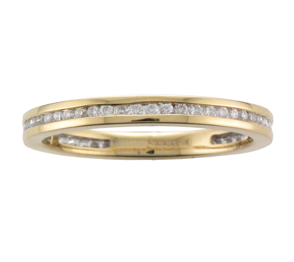 18ct Yellow Gold Full Diamond Channel-Set Eternity Ring - Andrew Scott