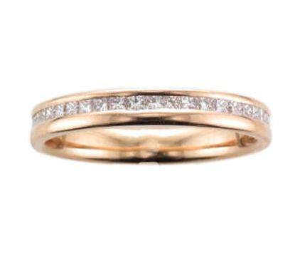 18ct Rose Gold Off-set Diamond Eternity Ring - Andrew Scott