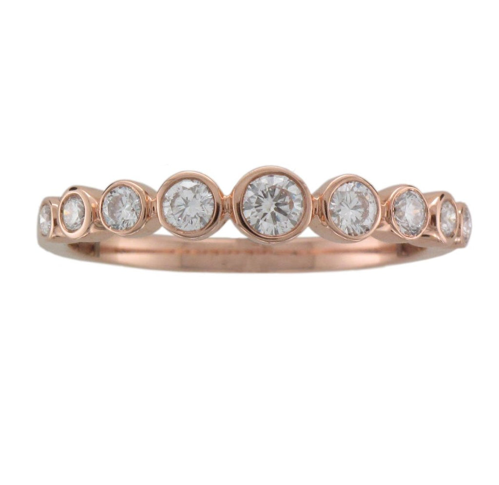 18ct Rose Gold Graduated Diamond Eternity Ring - Andrew Scott