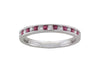 18ct White Gold Ruby and Diamond Half Eternity Ring - Andrew Scott