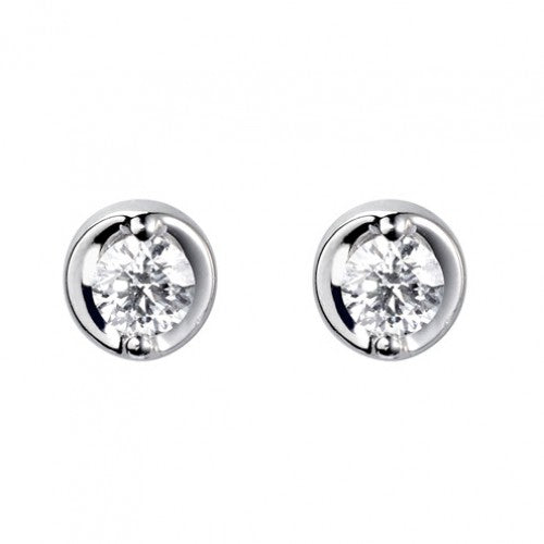 18ct White Gold Diamond Earrings - Andrew Scott