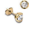 18ct Yellow Gold Rosebud Brilliant-cut Diamond Earrings - Andrew Scott