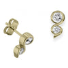 18ct Yellow Gold Diamond Twist Earrings - Andrew Scott