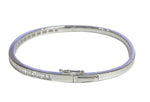 18ct White Gold Half Channel-set Diamond Hinged Bangle - Andrew Scott