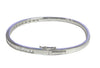 18ct White Gold Half Channel-set Baguette-cut Diamond 1.65ct F/VS1 Hinged Bangle
