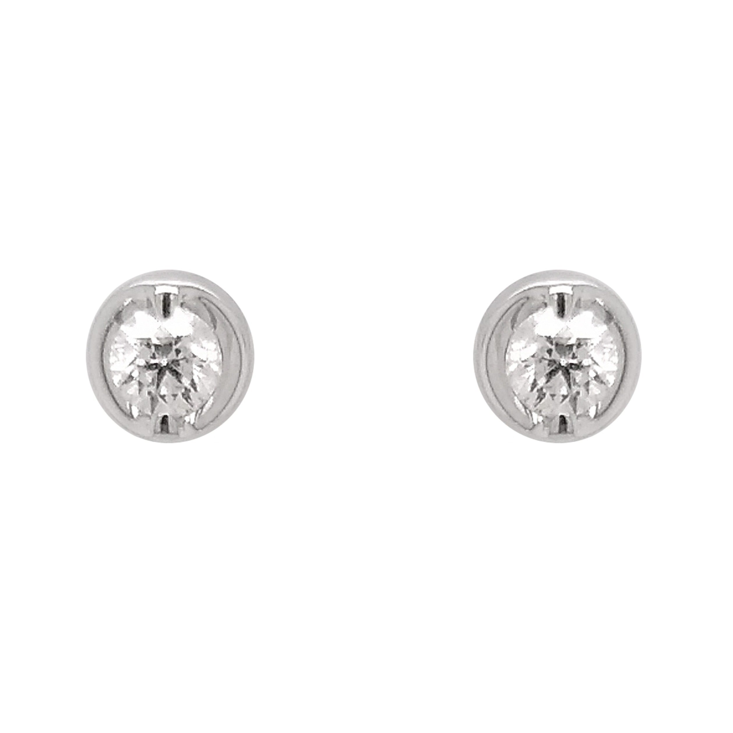 18ct White Gold Rosabella Diamond Earrings