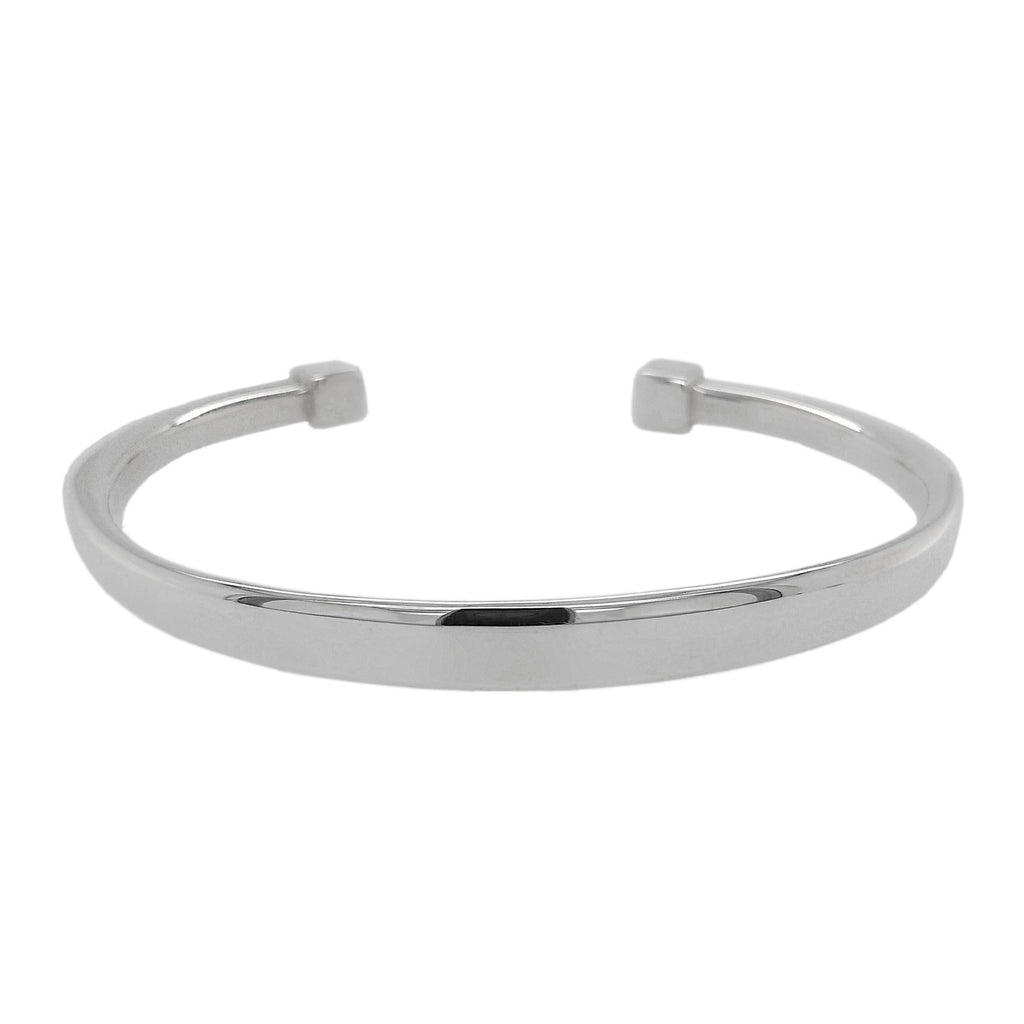 Silver Square Tapered Torque Bangle