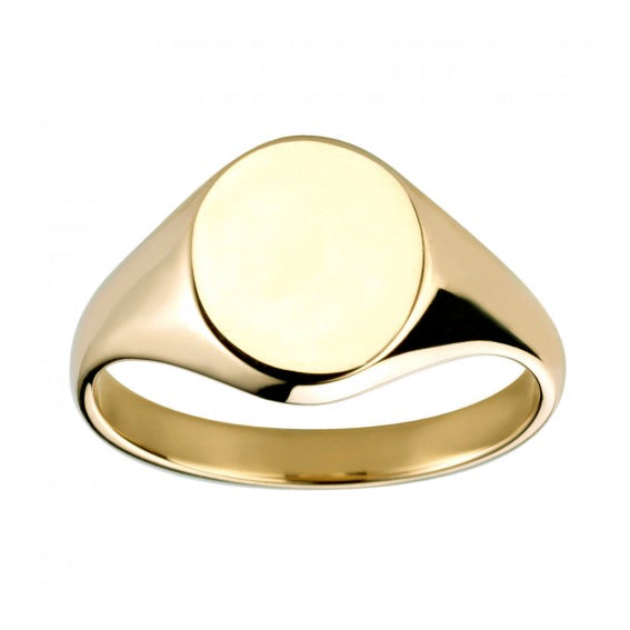 9ct Yellow Gold Oval Signet Ring - Andrew Scott
