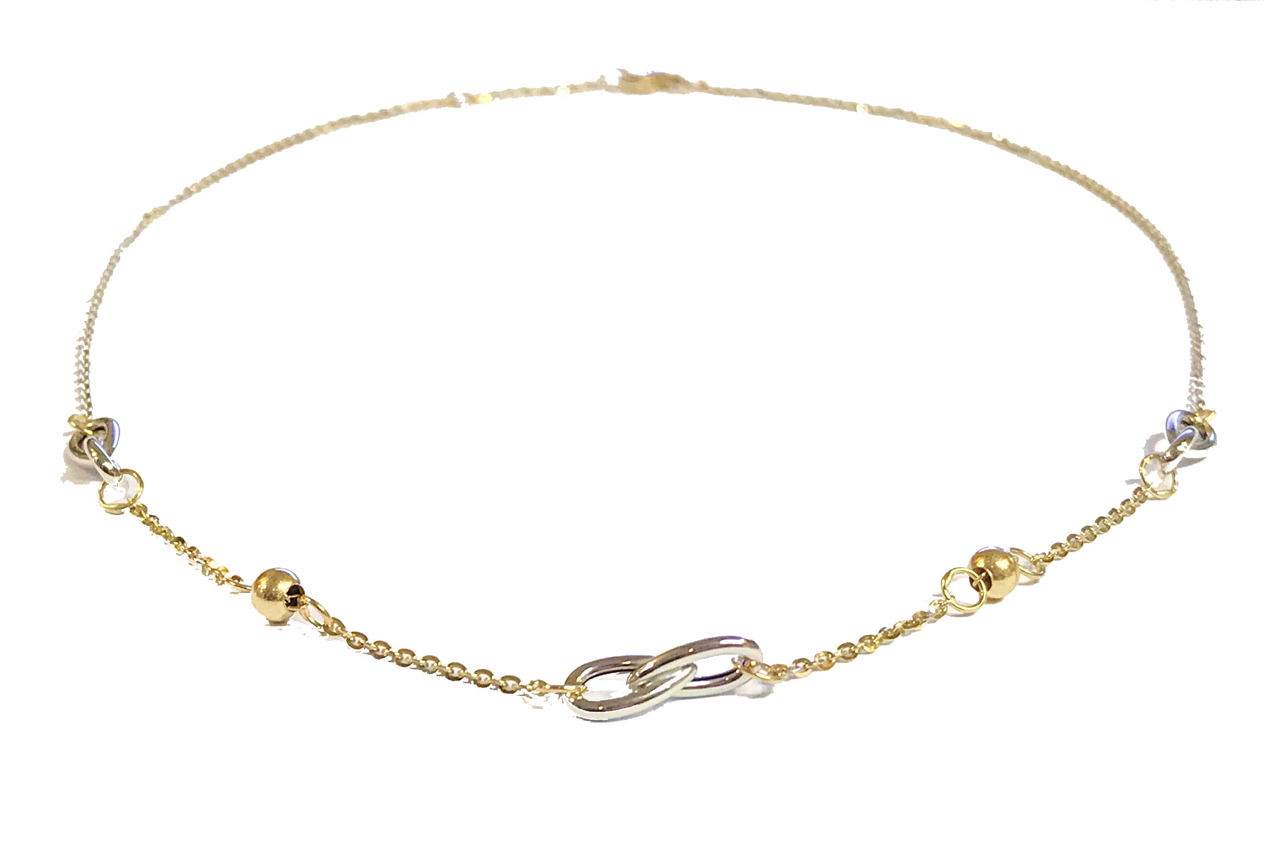 9ct Yellow and White Gold Necklace - Andrew Scott