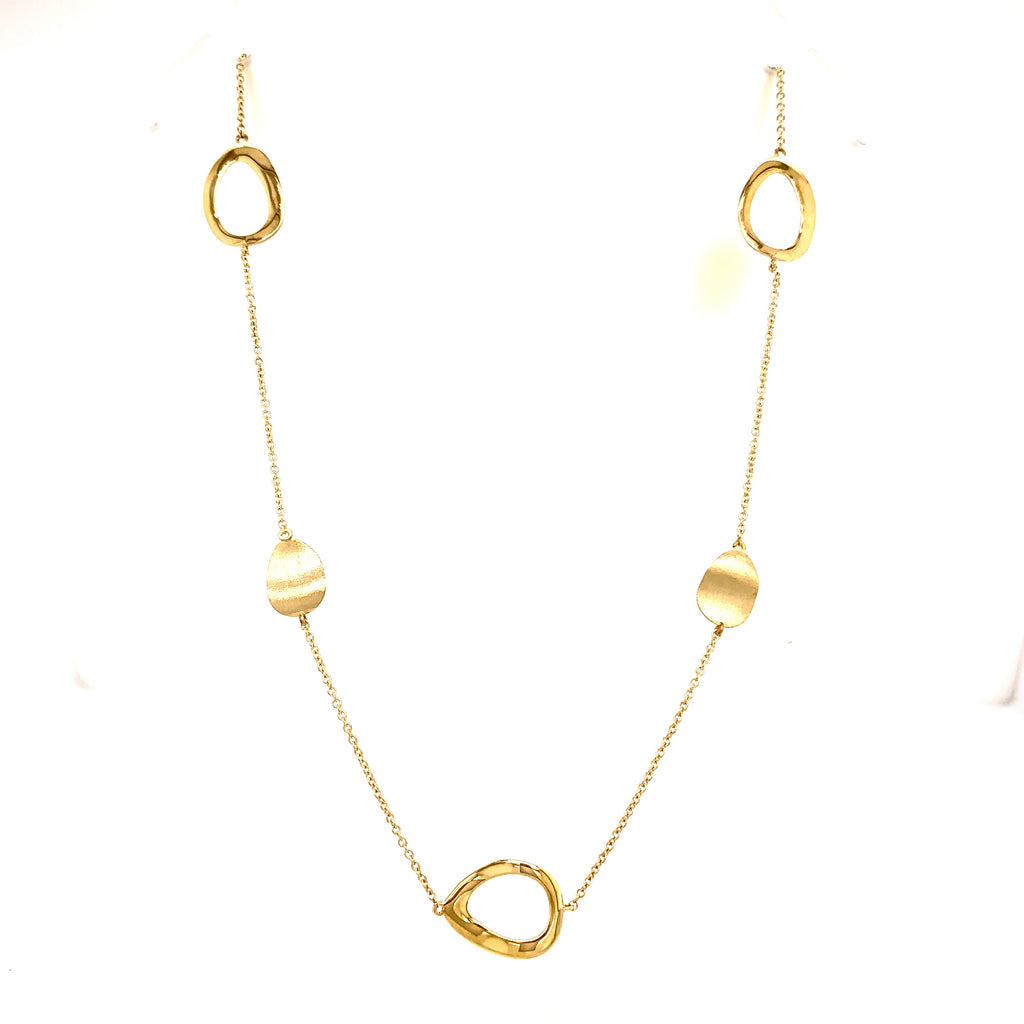 9ct Yellow Gold Oval Necklace - Andrew Scott