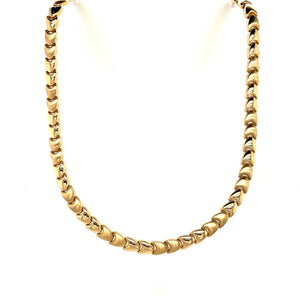 9ct Yellow Gold Chevron Necklace - Andrew Scott