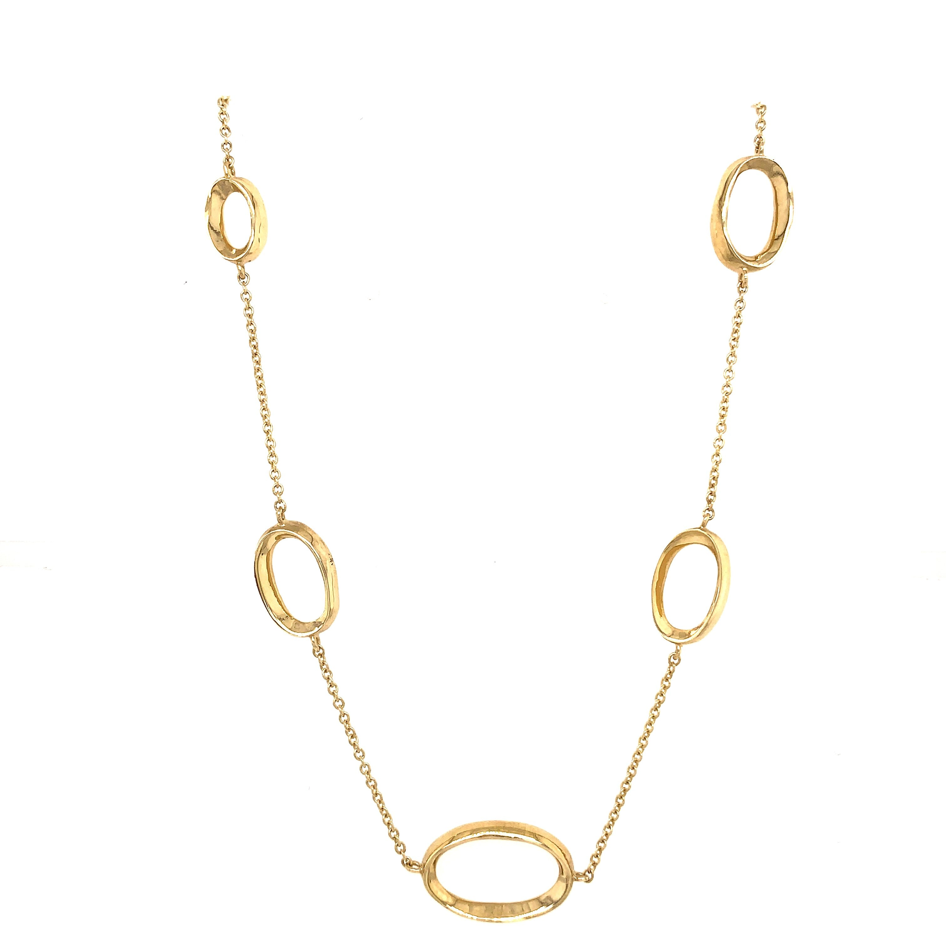 9ct Yellow Gold Oval Linked Chain Necklace - Andrew Scott