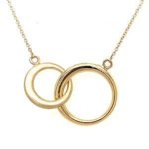 9ct Yellow Gold Double Ring Necklace - Andrew Scott