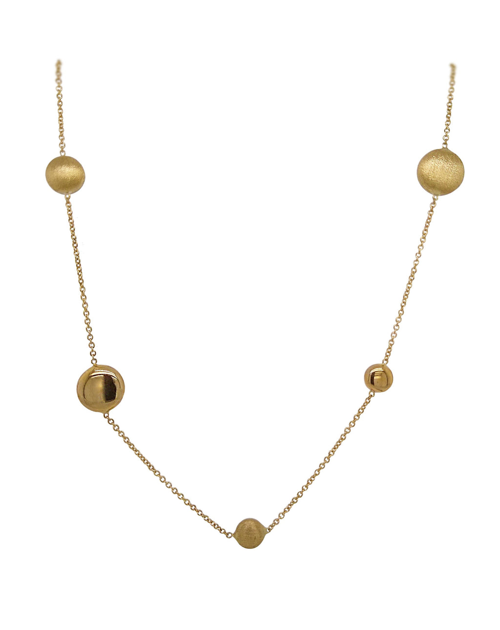9ct Yellow Gold Beaded Necklace