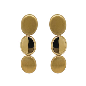 9ct Yellow Gold Oval Drop Earrings