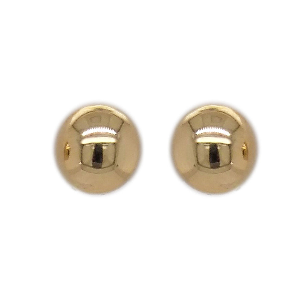 9ct Yellow Gold Half Ball Stud Earrings