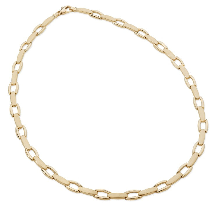 9ct Yellow Gold Soft Rectangular Necklace - Andrew Scott
