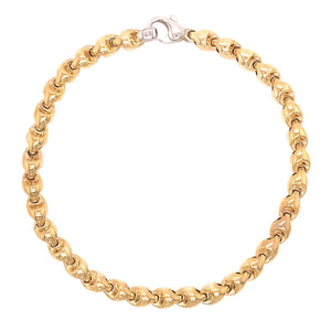 9ct Yellow & White Gold Fancy Link Bracelet - Andrew Scott