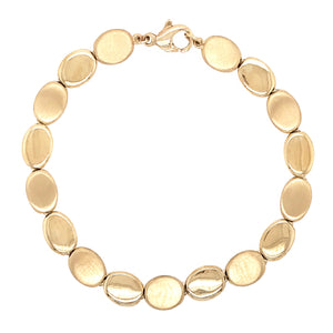 9ct Yellow Gold Oval Linked Bracelet - Andrew Scott