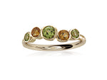 9ct Yellow Gold Peridot & Citrine Bubble Ring - Andrew Scott