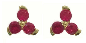 18ct Yellow Gold Ruby Stud Earrings - Andrew Scott