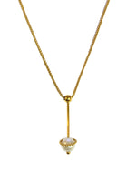 18ct Yellow Gold China Pearl Drop Pendant & Chain - Andrew Scott