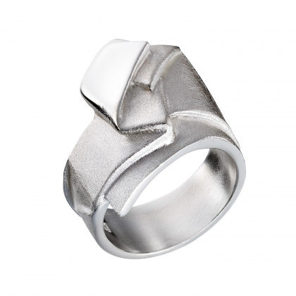 Silver Origami Ring by Lapponia of Helsinki - Andrew Scott