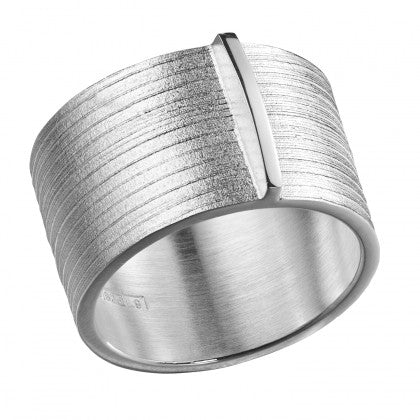 Silver Nile Riven Texture Ring by Lapponia of Helsinki - Andrew Scott