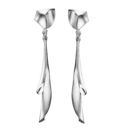 Silver Arieta Drop Earrings by Lapponia of Helsinki - Andrew Scott