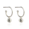 Silver Orb Hoop Earrings