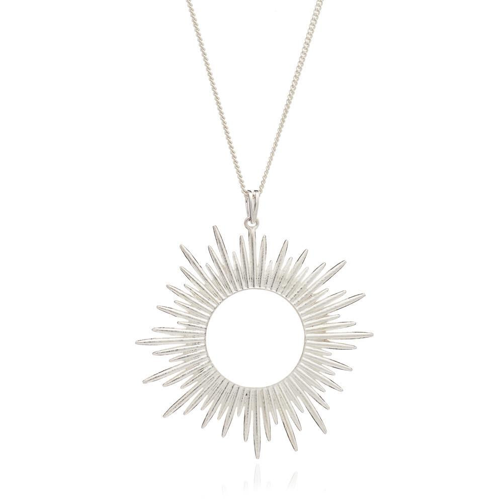 Sterling Silver Sunrays Long Necklace