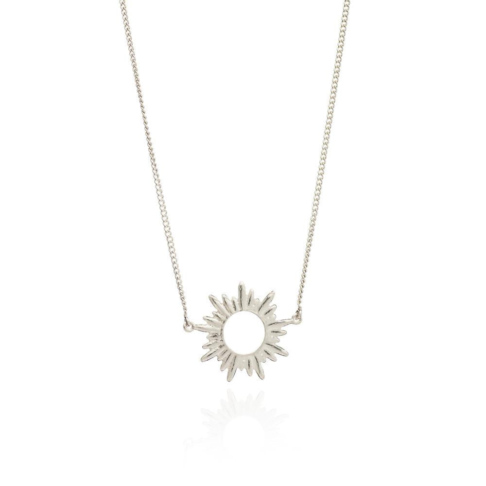 Sterling Silver Sunrays Small Necklace