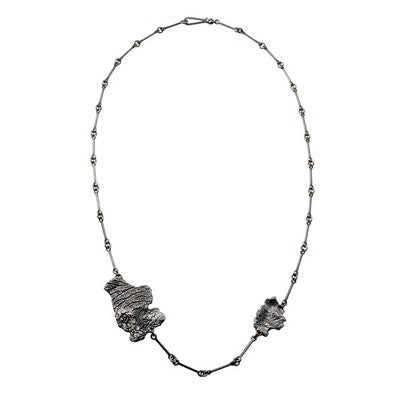 Silver Oxidised Kuu Necklace by Lapponia of Helsinki
