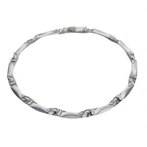 Silver Palio Textured Necklace by Lapponia of Helsinki - Andrew Scott