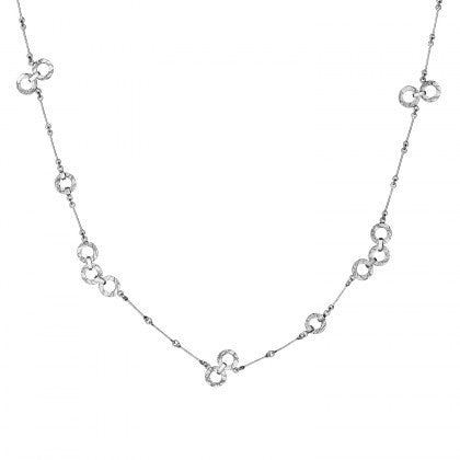 Silver Bubblestances Textured Necklace by Lapponia of Helsinki