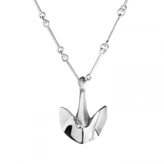 Silver Anchor of My Life Designer Necklace by Lapponia