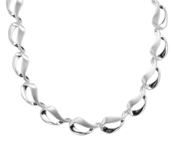 Sterling Silver Ribbon Loop Link Necklace - Andrew Scott