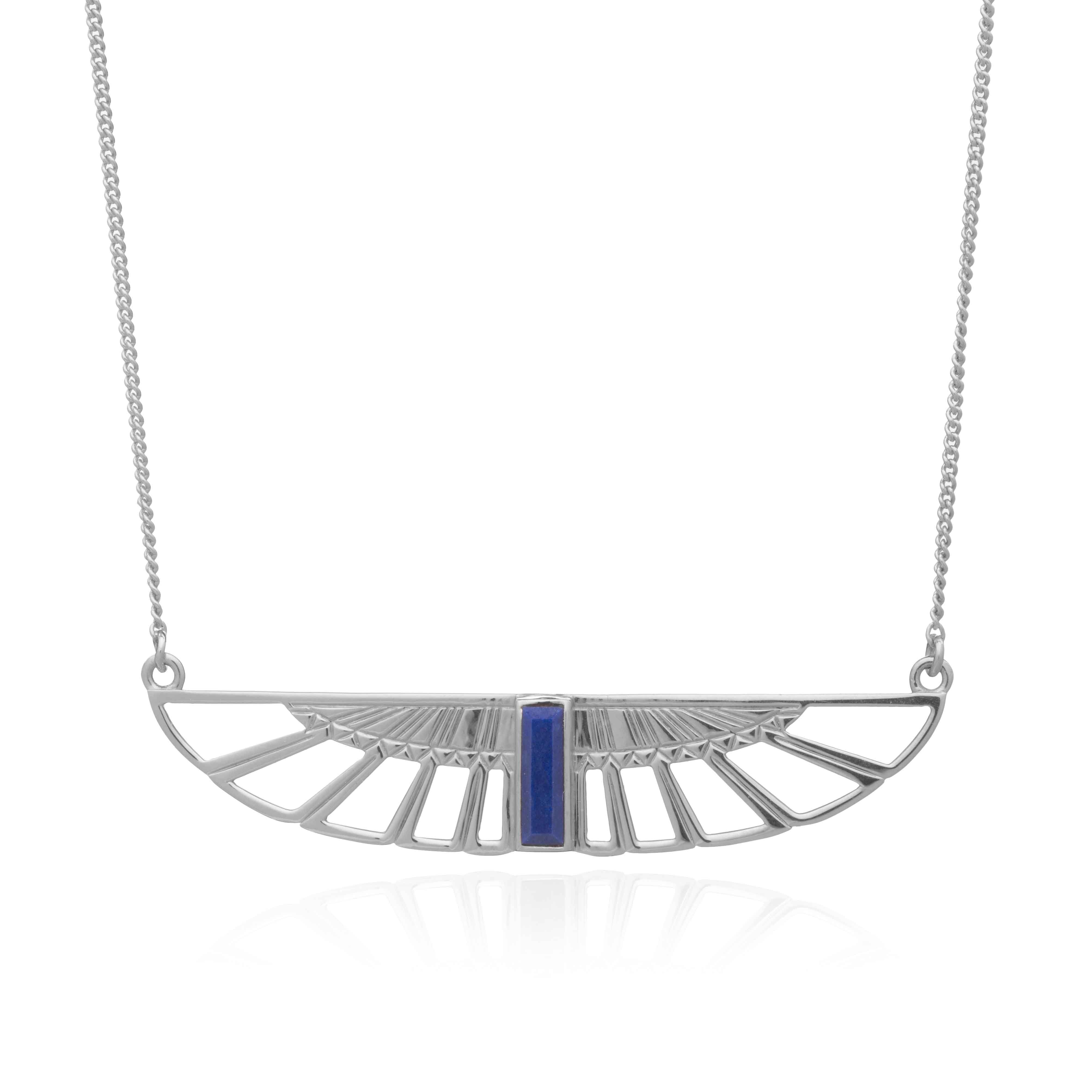 Silver Wings of Freedom Necklace - Andrew Scott
