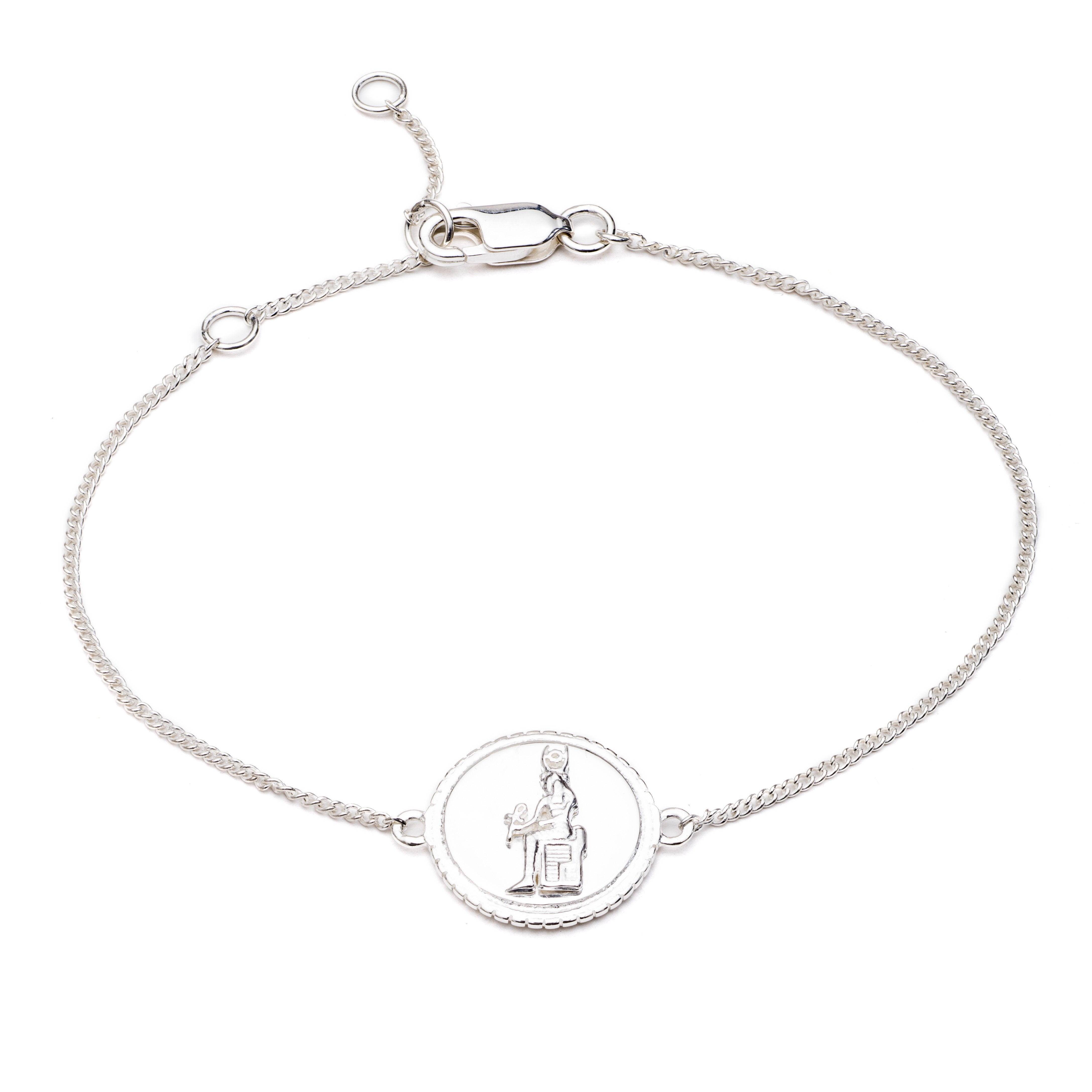Silver Queen of Revelry Coin Bracelet