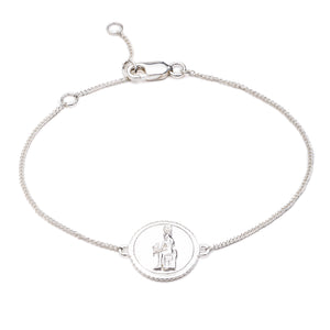 Silver Queen of Revelry Coin Bracelet - Andrew Scott