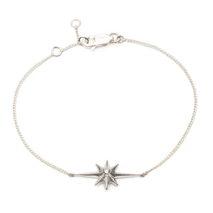 Sterling Silver Shooting Star Diamond Bracelet