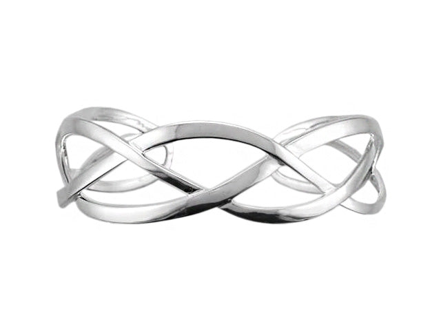 Silver Interlacing Torque Bangle - Andrew Scott